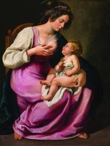 Madonna and Child (Madonna col Bambino), 1609-10. Oil on canvas. 46 1/2 x 33 7/8 in. Galleria Palatina, Palazzo Pitti, Florece; inv.1890 no. 2129